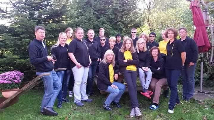 Gruppenfoto während des Übungswochenende